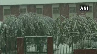 J&K Receives First Snowfall; Flights Cancelled | Watch Video