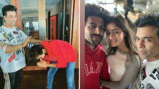 Kartik Aaryan Kick Starts Dostana 2 With 'Dharma Rivaaz', Touches Karan Johar Feet For Blessings