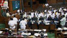 गांधी परिवार से एसपीजी सिक्योरिटी वापस लेने के विरोध कांग्रेस ने लोकसभा में किया हंगामा