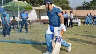 MS Dhoni Eyes Team India Return, Seen Batting at Nets in JSCA Stadium, Ranchi; BCCI Official Provides Update | WATCH VIDEO