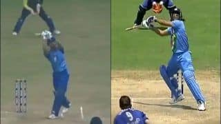 WATCH: Iyer Does a Dhoni, Plays Helicopter Shot to Perfection