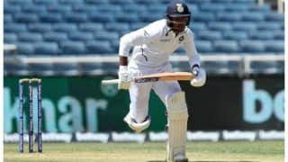 Pinkballtest indvban mayank agarwal out cheaply team india 35 1 at tea on day 1 in first innings against bangladesh