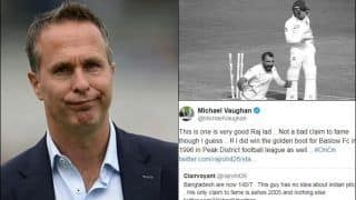 India vs Bangladesh 1st Test: Michael Vaughan Shuts Indian Fan Who Mocked Him For His Tweet on Indore Pitch   SEE POST
