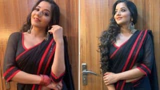 Bhojpuri Actor Monalisa Shares Glimpses of Promo Shoot, Looks Hot in Sexy Black Saree