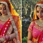 Bhojpuri Sizzler Monalisa's Hot Bridal Look in Pink-orange Lehenga Will Make You Gush Over Her