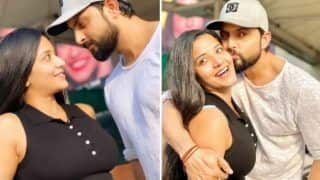 Bhojpuri Hot Bomb Monalisa Shares Her Mushy Pictures With Hubby Vikrant Singh Rajpoot