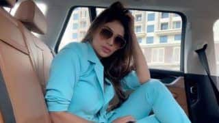 Mouni Roy Sizzles in Sky Blue Pantsuit And Nude Pink Lips, Pictures Will Give You Major Fashion Goals