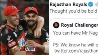 IPL 2020: Rajasthan Royals Troll RCB For Not Releasing Mr Nags After Expressing Interest to Trade Virat Kohli, AB De Villiers | SEE POST