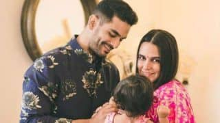 Neha Dhupia, Angad Bedi Strike Pose With Their Little Munchkin Mehr on Children's Day, Picture Will Steal Your Heart Away