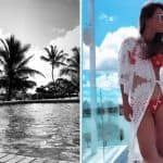 Nia Sharma Looks Smoking Hot in Red Bikini as She Basks Herself in The Sun During Vacay