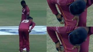 Nicholas Pooran's Suspicious Act With Ball During 3rd ODI Between Afghanistan-West Indies Raises Eyebrows; Was he Ball-Tampering? WATCH VIDEO