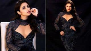 Parineeti Chopra's Sultry Look in Black Shimmery Gown Will Get You Excited For Frozen 2