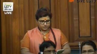 'Statement Misconstrued', Pragya Thakur Clarifies in Lok Sabha Over Godse Remark; Attacks Rahul For Calling Her 'Terrorist'