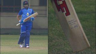 Prithvi Shaw Shines For Mumbai in Syed Mushtaq Ali Game vs Punjab, Fans Spot India Captain Virat Kohli's Signature on His Bat   SEE POSTS