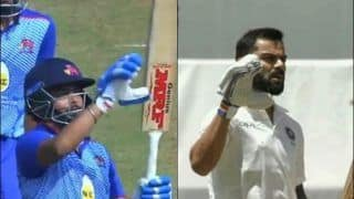 Prithvi Shaw Imitates India Captain Virat Kohli's 'Bat Does The Talking' Gesture on Hitting Fifty After Doping Ban in Syed Mushtaq Ali 2019 Trophy | WATCH VIDEO