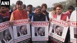 Delhi Toxic Water Row: BJP Protests Against 'Missing Jal Board Chief' Arvind Kejriwal