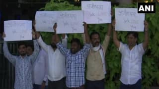 After Ajit Pawar's Resignation, NCP Workers Hold Protest in Mumbai, Say 'Ajit Dada, we Love You'
