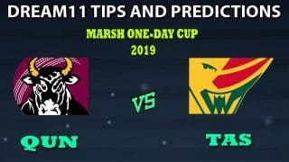 Queensland vs Tasmania Dream11 Team Prediction Marsh One-Day Cup 2019: Captain And Vice-Captain, Fantasy Cricket Tips QUN vs TAS Match 19 at Blundstone Arena, Hobart 4:30 AM IST
