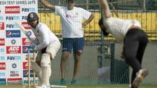 Rohit sharma cheteshwar pujara practiced with pink ball under floodlightes