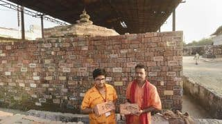 Devotees Deposit Bricks For Construction of Ram Temple in Ayodhya