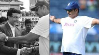 India Coach Ravi Shastri Hails BCCI President Sourav Ganguly After Pink-Ball Test at Eden Gardens, Twitter Reacts Hilariously | SEE POSTS