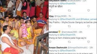 India Coach Ravi Shastri Trolled Hilariously After he Visits Mahakaleshwar Temple in Ujjain Ahead of The Historic Pink Ball Test Against Bangladesh at Eden Gardens | SEE POSTS