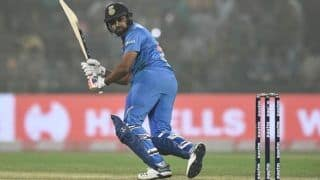 Rohit Sharma Slams 18th Fifty in 100th T20I Game at Rajkot Against Bangladesh, Netizens Hail India Captain   SEE POSTS