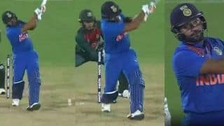 Rohit Sharma Smashes Hattrick of Sixes During Second T20I Between India-Bangladesh at Rajkot | WATCH VIDEO
