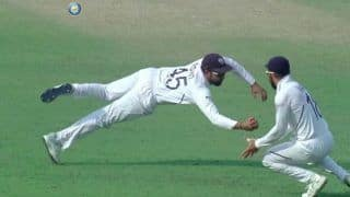 Rohit Sharma Takes a One-Handed Catch to Send Mominul Haque Packing in Historic Pink-Ball Test Between India-Bangladesh at Eden Gardens   WATCH VIDEO