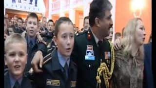 जब रूसी कैडेटों ने एक साथ गाया 'ऐ वतन, ऐ वतन..' गाने का वीडियो वायरल