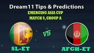 Sri Lanka U23 vs Afghanistan U23 Dream11 Team Prediction Emerging Asia Cup 2019: Captain And Vice-Captain, Fantasy Cricket Tips SL-ET vs AFGH-ET Match 9 Group A at Sheikh Kamal International Cricket Stadium Academy Ground, Cox's Bazar 8:30 AM IST