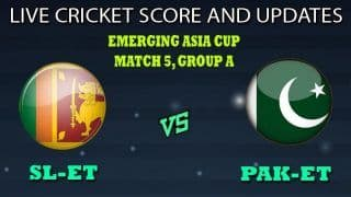 Sri Lanka U23 vs Pakistan U23 Dream11 Team Prediction Emerging Asia Cup 2019: Captain And Vice-Captain, Fantasy Cricket Tips SL-ET vs PAK-ET Match 5 Group A at Sheikh Kamal International Cricket Stadium, Cox's Bazar 8:30 AM IST