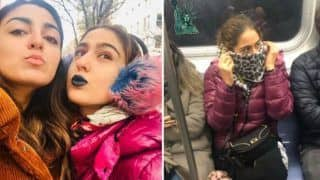 Sara Ali Khan Goes Quirky as She Dons Blue Lipstick And Cheetah Earmuffs During Her New York Vacay