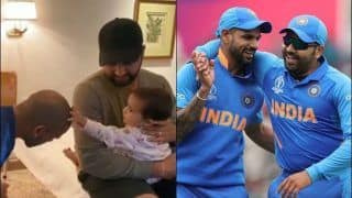 Shikhar Dhawan Gets Playful With Rohit Sharma's Daughter Ahead of 1st T20I vs Bangladesh | WATCH VIDEO