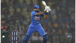 Ind v ban shreyas iyer kl rahul hit half centuries bangladesh restricts india to 174 5 in 3rd t20