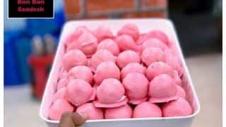 'Sweets Go Pink in Kolkata' Sourav Ganguly Celebrates India's Maiden Pink Ball Test With Pink Sandesh