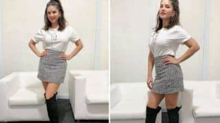 Sunny Leone Looks Sizzling Hot in White Top And Shimmery Skirt as She Attends Ragini MMS Returns' Promo Event