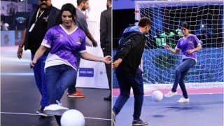 WATCH VIDEO | Sunny Leone Shows Off Her Football Skills in New Video During Abu Dhabi T10 League