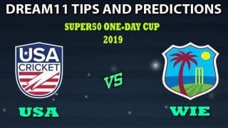 USA vs WIE Dream11 Team Prediction Super50 Cup 2019