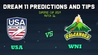 United States of America vs Winward Islands Dream11 Team Prediction Super50 Cup 2019: Captain And Vice-Captain, Fantasy Cricket Tips USA vs WNI Group B Match at Brian Lara Stadium, Tarouba, Trinidad 11:00 PM IST
