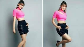 Urvashi Rautela's Latest Sizzling Hot Look in Pink Crop Top And Black Mini Skirt Will Set Your Heart Aflutter