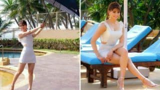 Urvashi Rautela Looks Smouldering Hot in White Dungaree as She Strikes a Pose Near Poolside