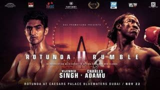 Vijender Singh to Take on Former Commonwealth Champion Charles Adamu in Dubai Showdown on November 22