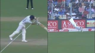 Virat Kohli Falls After 27th Test Century to a Brilliant Catch by Taijul Islam at Eden Garden During Historic Pink-Ball Test Between India-Bangladesh | WATCH VIDEO