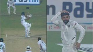 Virat Kohli Left Stunned After Mehidy Hasan's Bizarre Six at Eden Gardens During Historic Pink-Ball Test Between India-Bangladesh | WATCH VIDEO