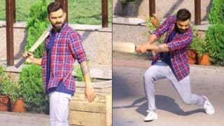 Watch video virat kohli plays gully cricket with kids in indore