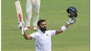Pinkballtest indvban virat kohli becomes first indian to score century in day night test surpasses ricky pontings records of hundreds as captain in tests