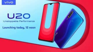 Vivo U20 with 5000mAh battery, Snapdragon 675 to launch in India today: How to watch livestream