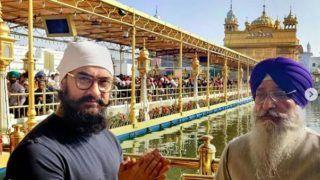 आमिर खान ने स्वर्ण मंदिर में मत्था टेका, 50 मिनट तक सुनते रहे शबद कीर्तन