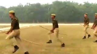 UP Cops Ride Imaginary Horses During Mock Drill, Video Cracks Up Netizens
